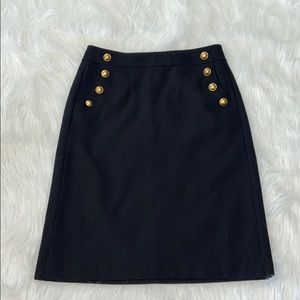 Ann Taylor LOFT Black Pencil Skirt sz 2